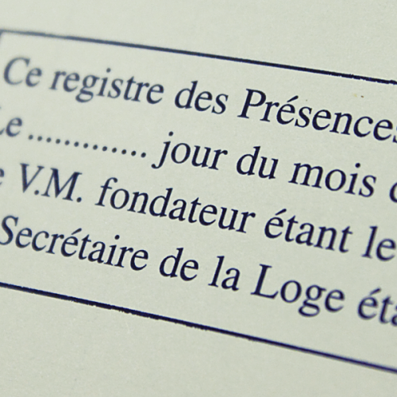REGISTRE DES PRESENCES (GLNF)